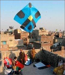 Rooftop Kite Flying