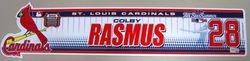 Colby Rasmus Rookie Game-Used 2009 Locker Nameplate
