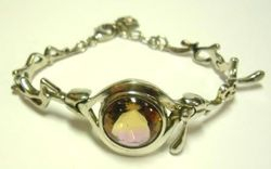 09-00129b Ametrine Faceted Sterling Link Bracelet