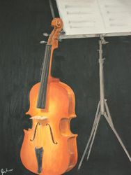Violin and music stand
