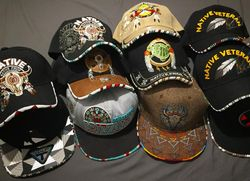Beaded baseball hats