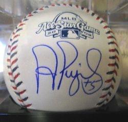 Albert Pujols Signed 2009 All Star Game Ball Graded Mint 9