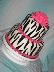 Zebra Mod Cake