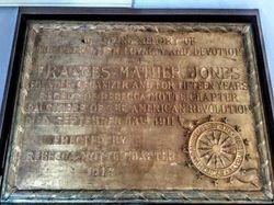 Regent Frances Mather Jones Plaque
