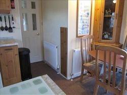 Showing 2 more radiators Dining area and kitchen