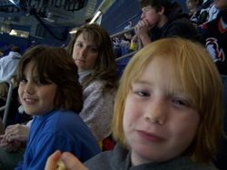 Mike, Brandon and Mom at a Sabres game