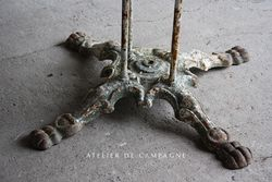 #26/004 LARGE FRENCH GARDEN TABLE  DETAIL