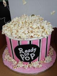 POP CORN box Baby Shower Cake