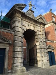 Gate into Dublin Castle