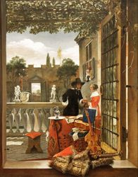 Dutch, View of a Terrace, c.1660, Chicago