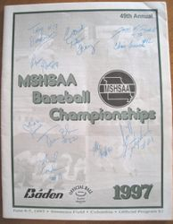 1997 MSHSAA High School Baseball Championships Program Signed  by Albert Pujols