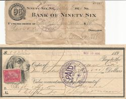 96 Bank Receipts