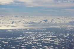 Clouds seen from a commercial jet airplane