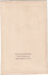 Hallett & Brother of New York, NY - back