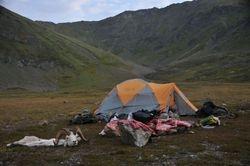 Camp shot in Chugach Range.