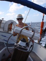 Becky at the helm!
