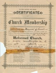 Church Membership for Margaret E. Corcelius