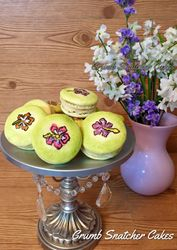 French Macarons Key lime flavored