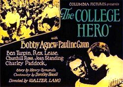 The College Hero (1927) poster