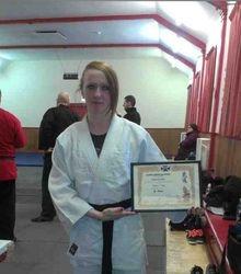 Presentation of Shodan in Ju-Jitsu to Lesley Ann Grubis (February 2013)