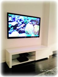 "52"" Flat Screen TV installation + wiring job"