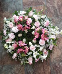 White and Pink Astro Wreath