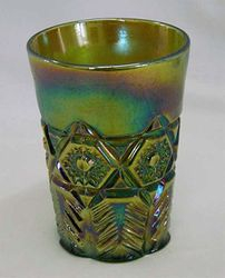 Inverted Feather tumbler, green
