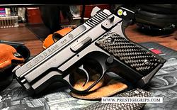 CZ RAMI Smooth black CF mounted