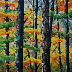Poplar and Ironwoods.  24 x 24.