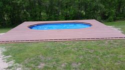 Above Ground Pool Install Composite Decking 3