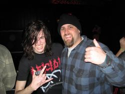 "Kevin (left) of Strychnia with KarlsMetal senior member Brian ""Icerift"""