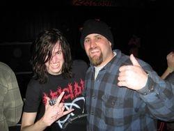 "Kevin (left) of Strychnia with KarlsMetal senior member Brian ""Icerift"""