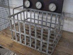 #15/129   Industrial Galvanized Basket SOLD