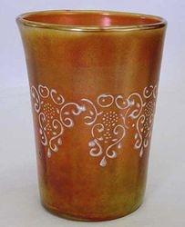 Silver Queen tumbler, marigold