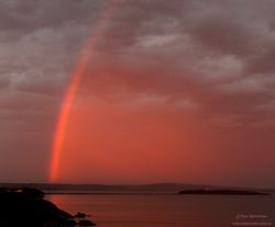Early morning rainbow over Partridge Island, Saint John NB