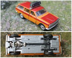 Tarybiniais laikais pagamintas modeliukas Volga Gaz 24 Aerouosto, 1:43. Kaina 28