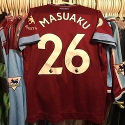Arthur Masuaku, 2018/19 worn and signed home shirt.