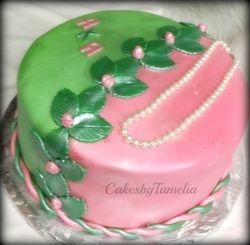 AKA Cake with Pearls