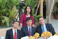 Speaker, Jonathan Monaco (left) and Family