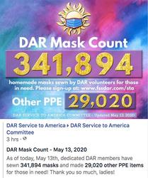 May 13th Mask Count - 341,894 Masks Made