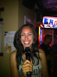"Modelo Especial girl ""Le Ruby"" bringing it to the crowd at Legendary Friday Night Karaoke!"