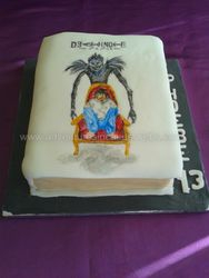 Death Note Book brithday cake