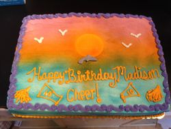 Sunset Dolphin Cake