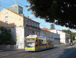 An unidentified Siemens tram on Rua da Junqueira