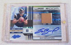 2010 PANINI ABSOLUTE MEMORABILIA SAM BRADFORD PATCH AUTO 8/10 ROOKIE