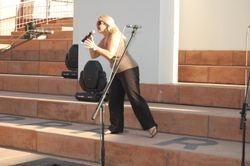 Sandra Kim rehearsal