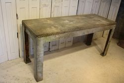 SOLD #18/168 Metal Industrial Table SOLD