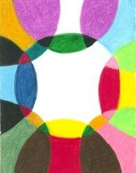 Sacred Circle Of Light, Oil Pastel, 11x14, Original Sold
