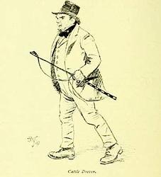 Irish cattle driver 120 years ago