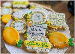 Lemon Themed Bridal Shower Decorated Cookies